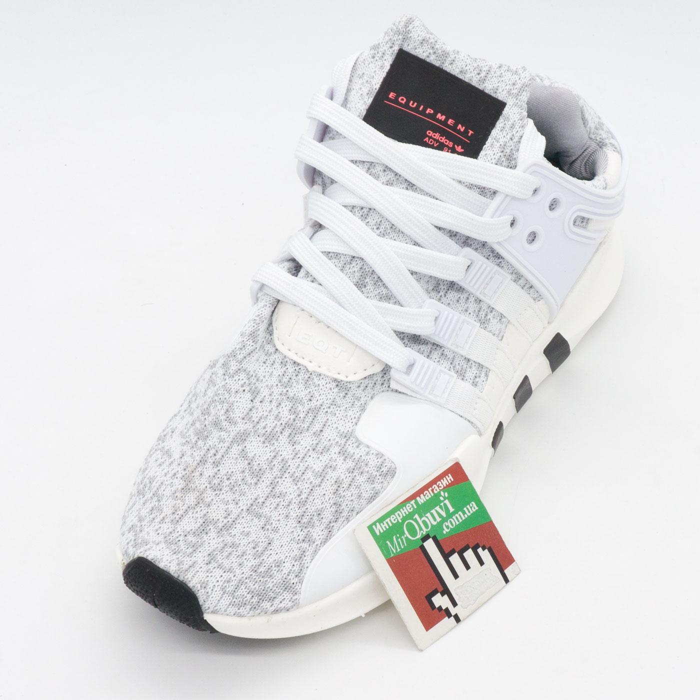 фото front Кроссовки Adidas Equipment Support (EQT) белые с серым 2. Топ качество! front