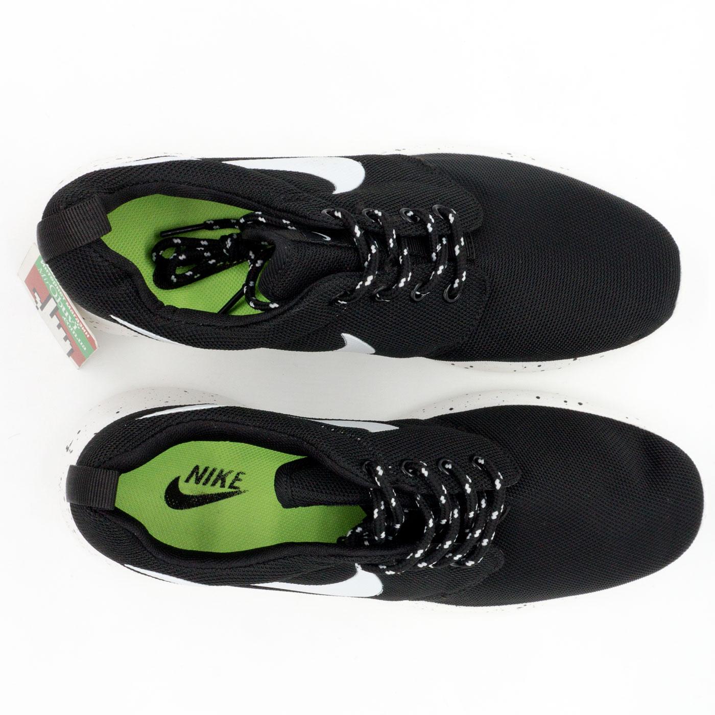 фото back Nike Roshe Run черно белые в крапинку. back