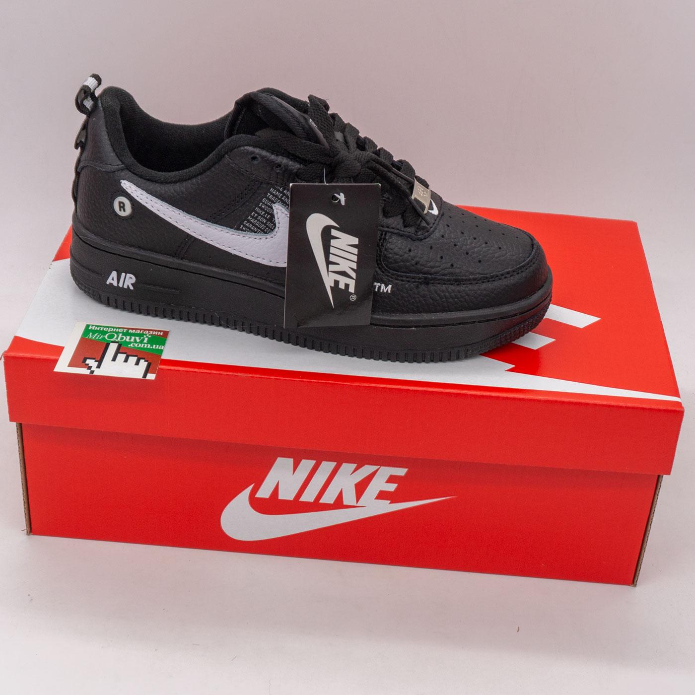 фото back Высокие зеленые кроссовки Nike Air Force  back