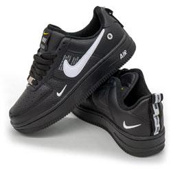 Высокие зеленые кроссовки Nike Air Force