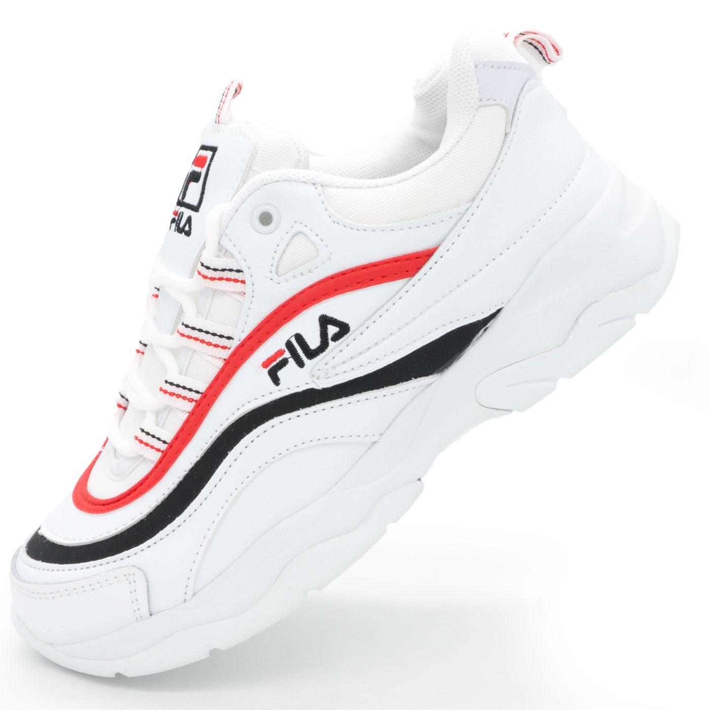 фото main Женские белые кроссовки FILA Ray с синим и красным main