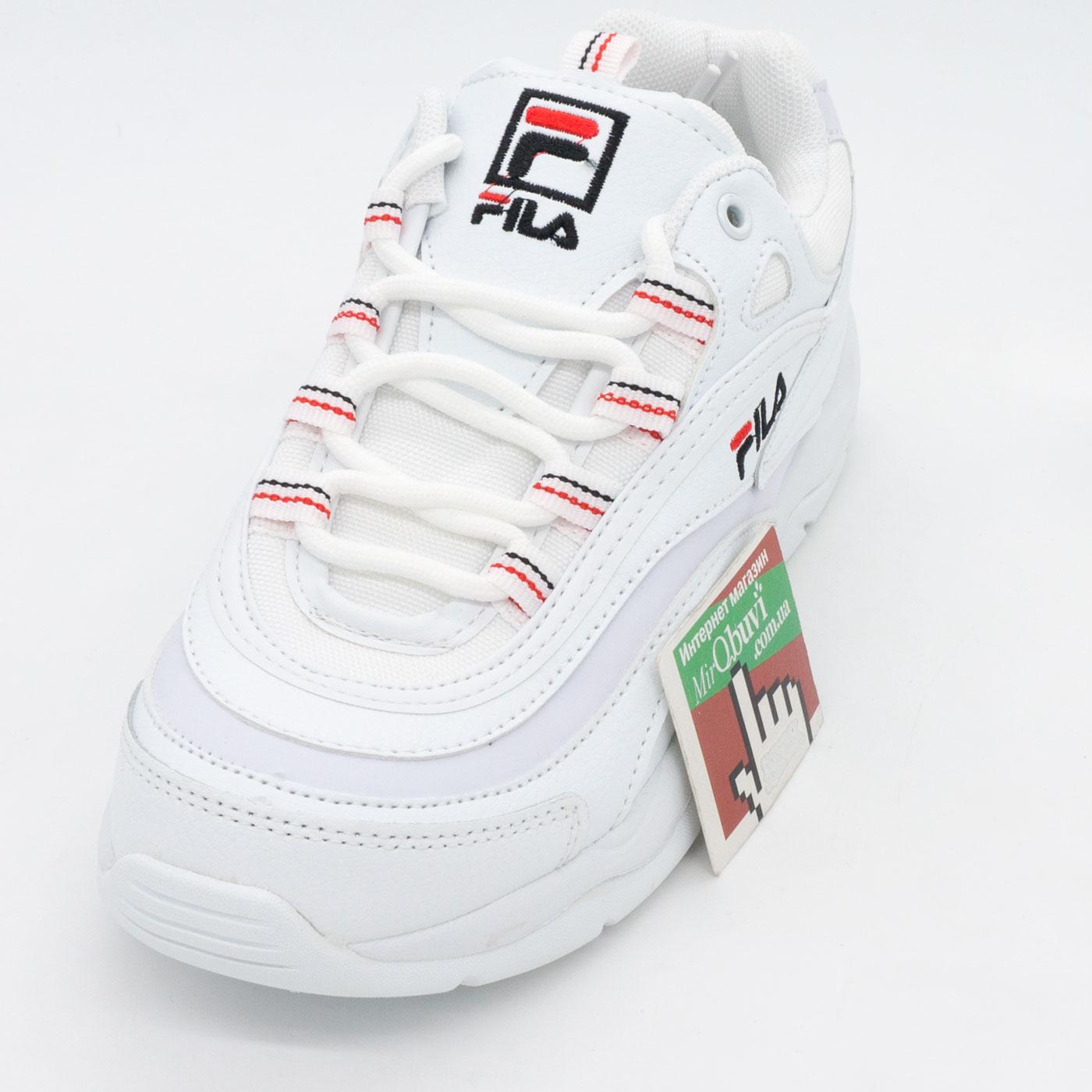 фото front Женские полностью белые кроссовки FILA Ray.  front