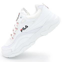 Женские полностью белые кроссовки FILA Ray.