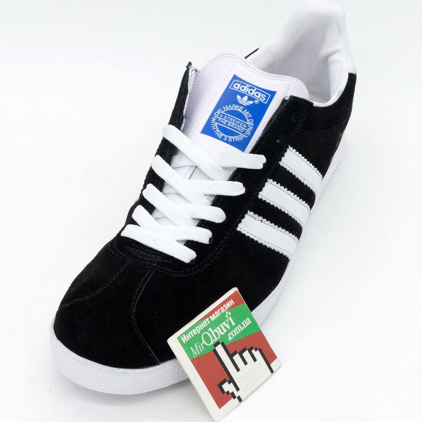 фото front Кроссовки Adidas Gazelle черные. Топ качество! front