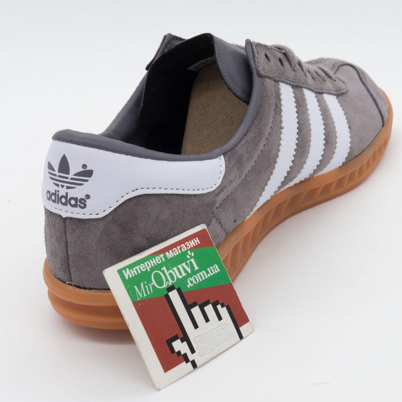 фото back Кроссовки Adidas Hamburg серые - Натуральная замша - Топ качество! back