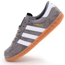 Кроссовки Adidas Hamburg серые - Натуральная замша - Топ качество!