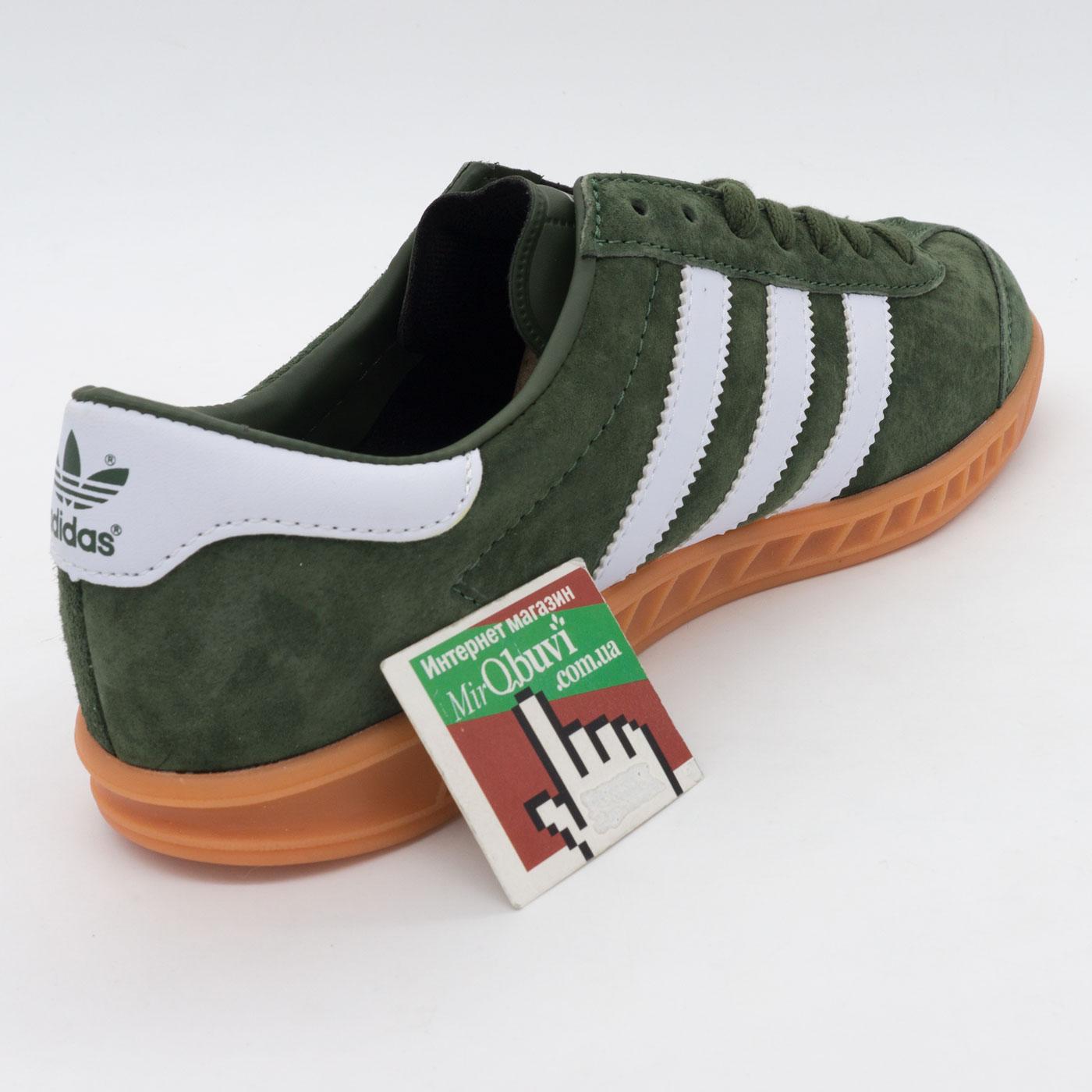 фото back Кроссовки Adidas Hamburg зеленые - Натуральная замша - Топ качество! back