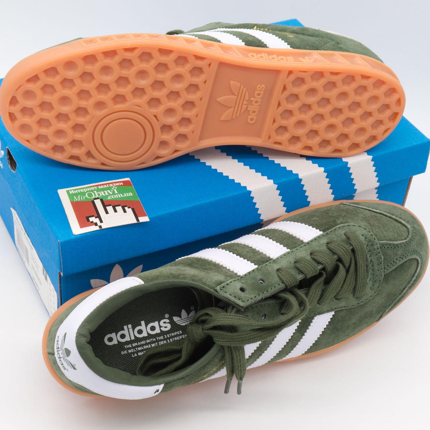 фото bottom Кроссовки Adidas Hamburg зеленые - Натуральная замша - Топ качество! bottom