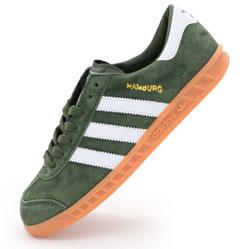 Кроссовки Adidas Hamburg зеленые - Натуральная замша - Топ качество!
