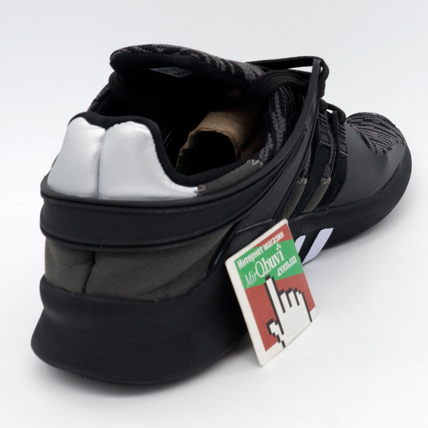 фото back Кроссовки Adidas Equipment support (EQT) полностью черные с серым. Топ качество! back