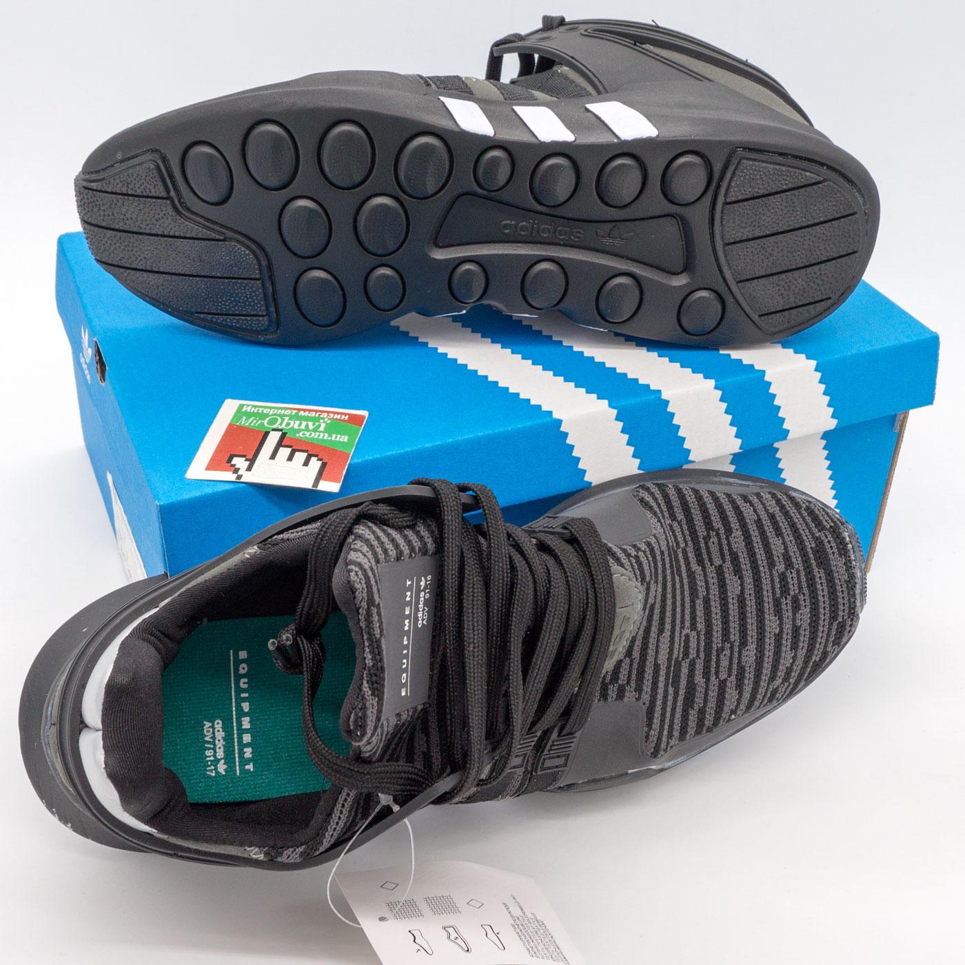 фото bottom Кроссовки Adidas Equipment support (EQT) полностью черные с серым. Топ качество! bottom