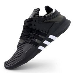 Кроссовки Adidas Equipment support (EQT) полностью черные с серым. Топ качество!