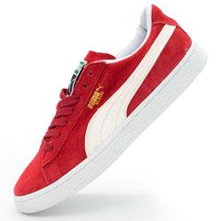 Кроссовки Puma Suede Пума Суеде красные, натуральная замша,  Топ качество!