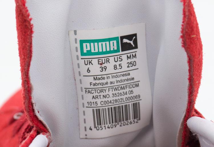 большое фото №6 Кроссовки Puma Suede Пума Суеде красные, натуральная замша,  Топ качество!