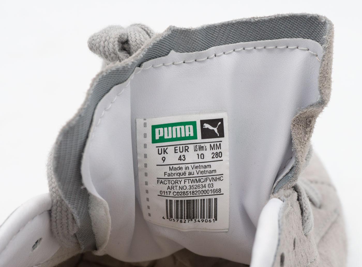 большое фото №6 Кроссовки Puma Suede Пума Суеде серые, натуральная замша,  Топ качество!