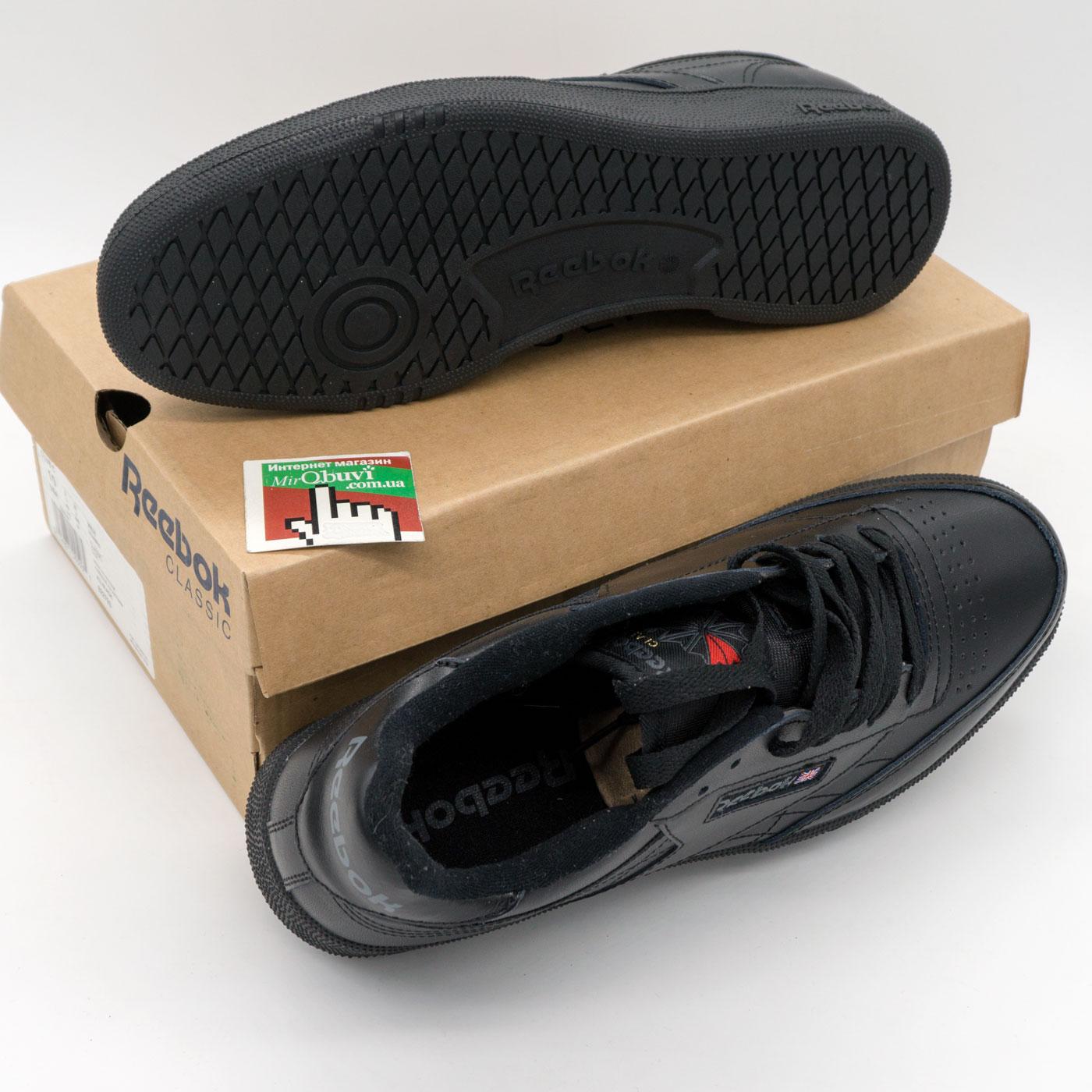 фото bottom Мужские кроссовки Reebok Сlassic Club C 85 черные, натуральная кожа - Топ качество! bottom