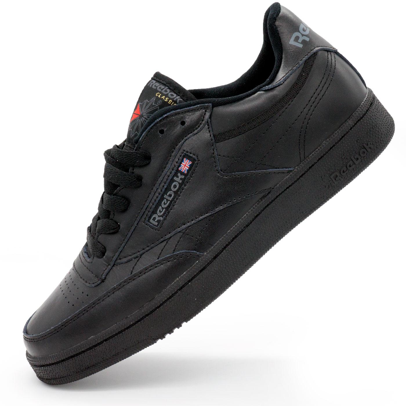фото main Мужские кроссовки Reebok Сlassic Club C 85 черные, натуральная кожа - Топ качество! main