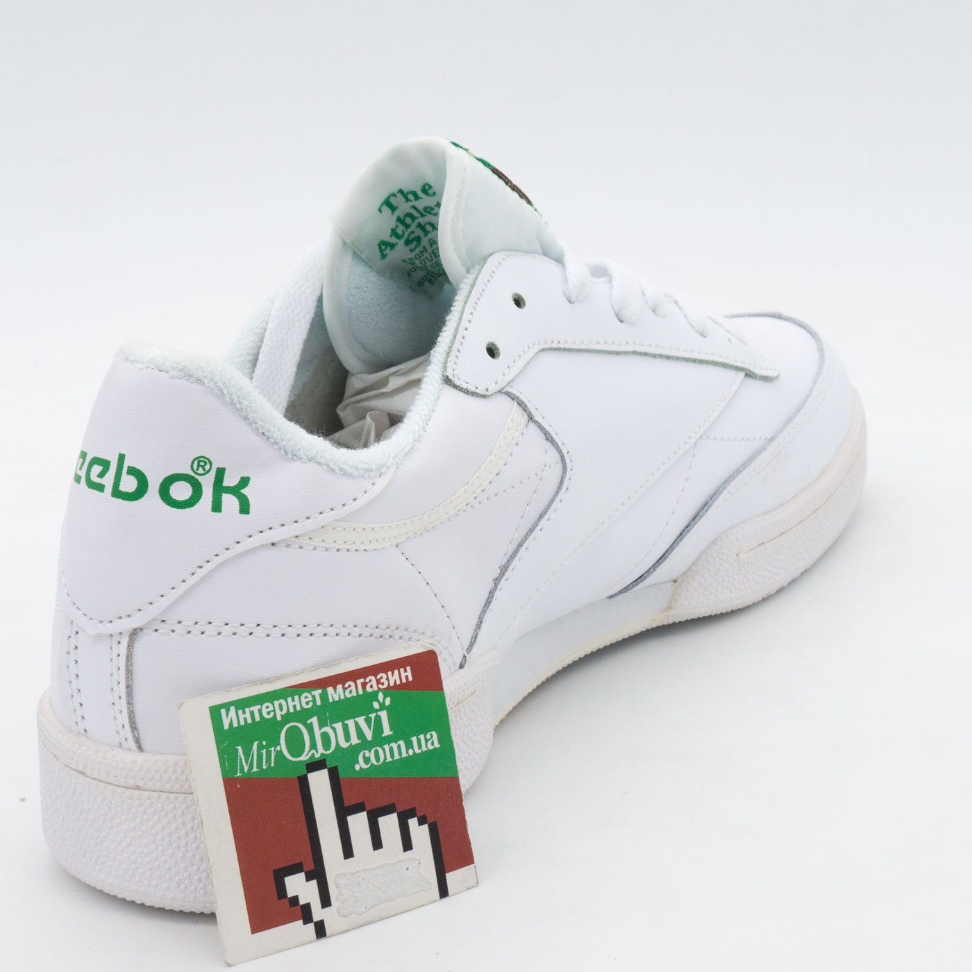 фото back Кроссовки Reebok Сlassic Club C 85 белые, натуральная кожа - Топ качество! back