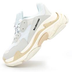 Женские серо белые кроссовки Balenciaga. Топ качество!