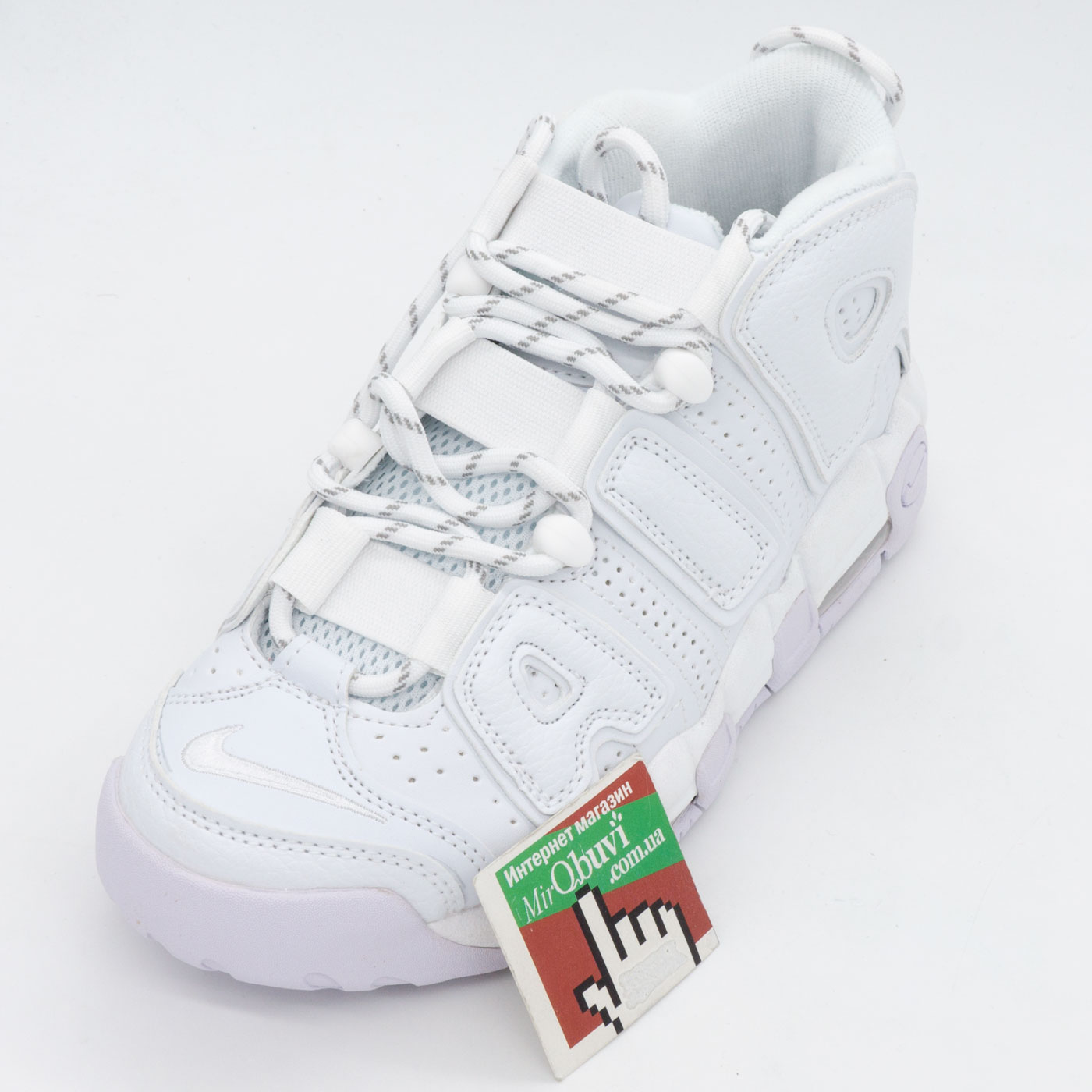 фото front Кроссовки Nike Air More Uptempo белые. Топ качество! front
