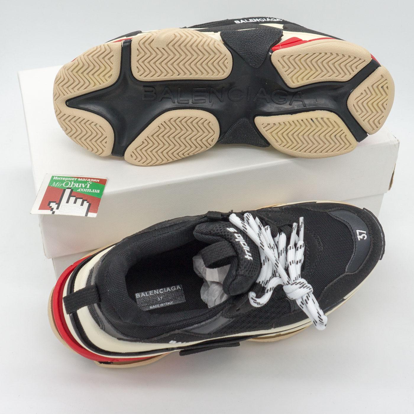 фото bottom Женские и мужские черные кроссовки Balenciaga. Топ качество bottom