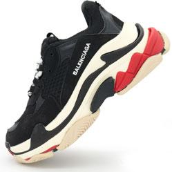 Женские и мужские черные кроссовки Balenciaga. Топ качество
