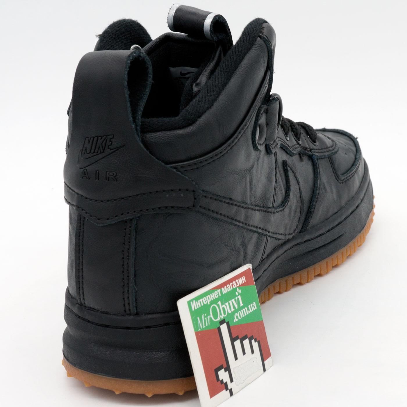 фото back Высокие кроссовки Nike Lunar Force 1 черные AIR FORCE back