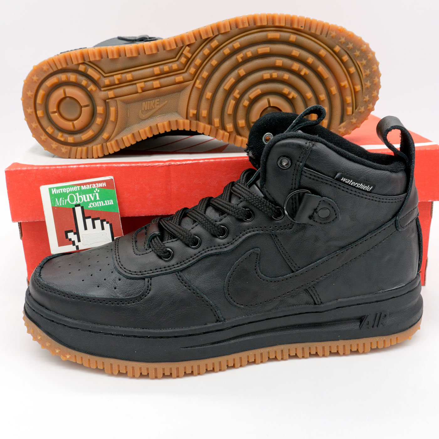 фото bottom Высокие кроссовки Nike Lunar Force 1 черные bottom