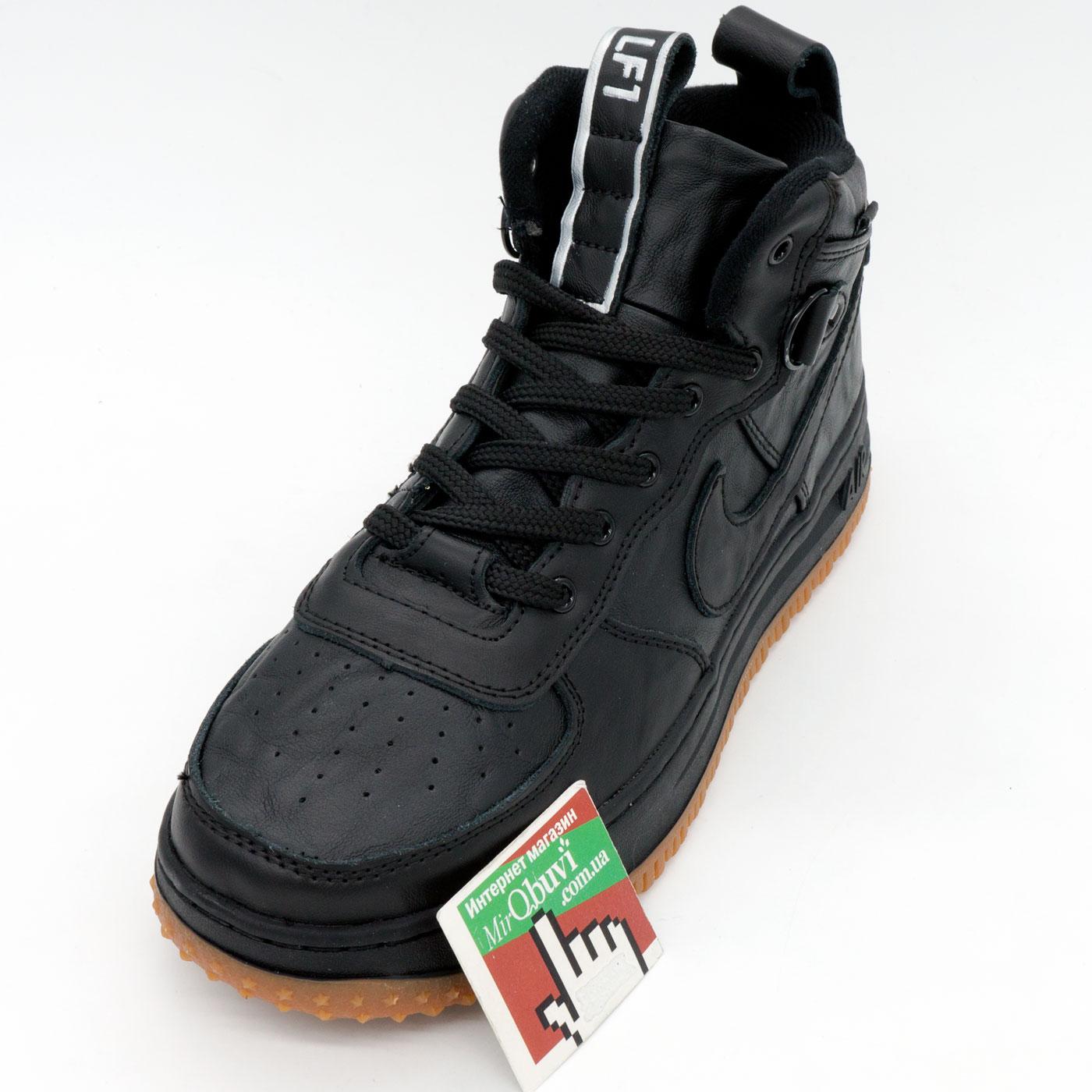 фото front Высокие кроссовки Nike Lunar Force 1 черные front