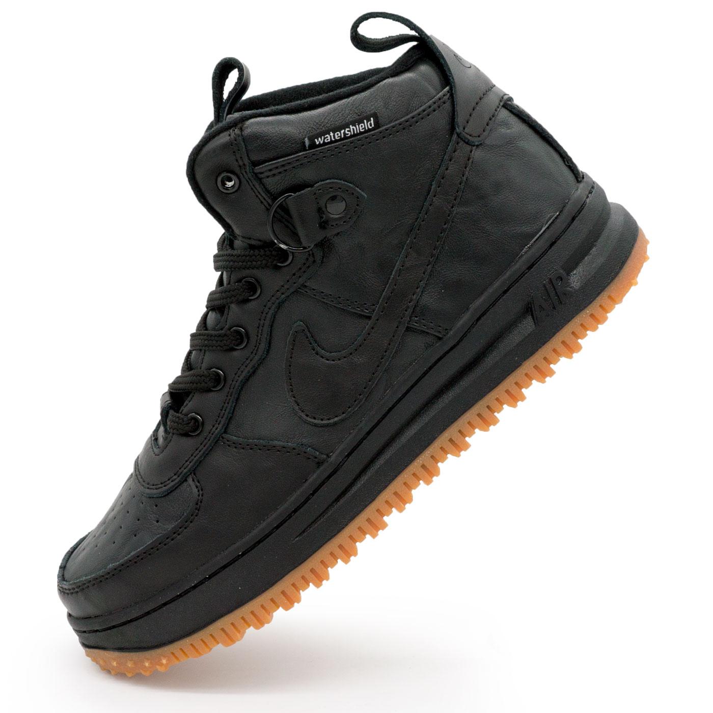 00332b124b2f Высокие кроссовки Nike Lunar Force 1 черные, купить высокие белые ...