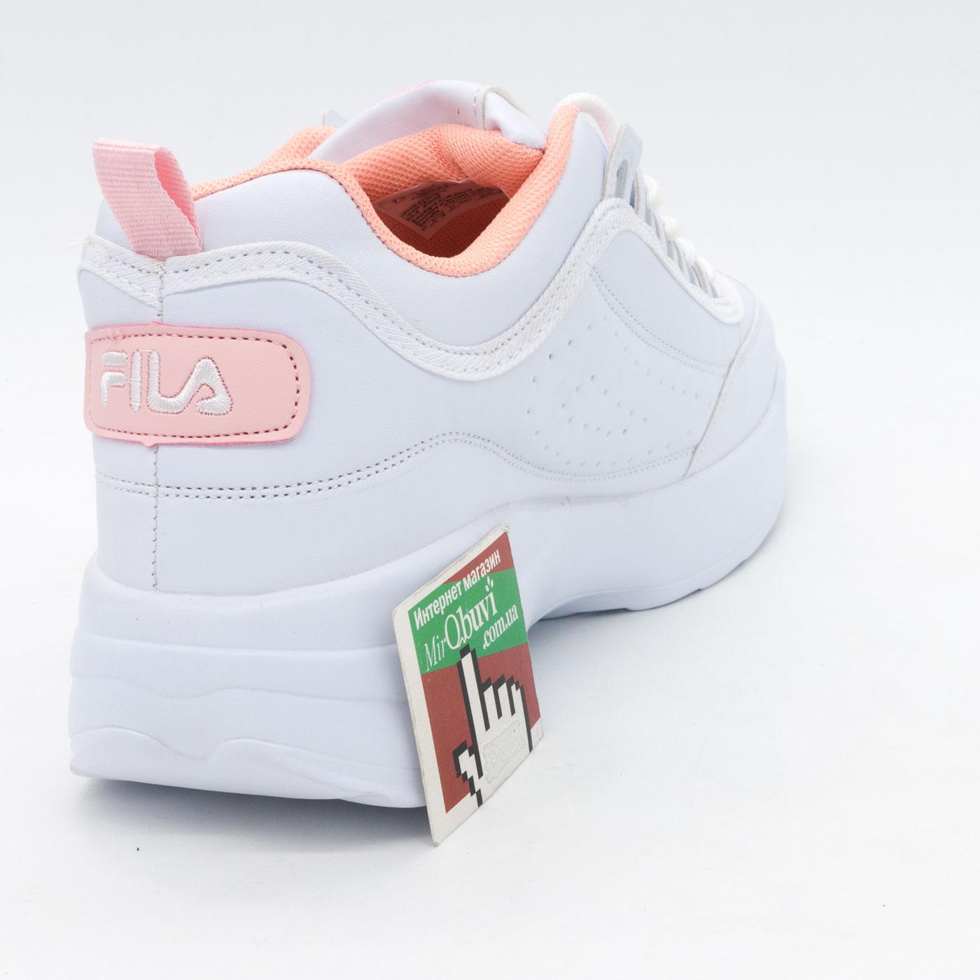 фото bottom Женские бело-розовые кроссовки FILA Disruptor 2 - China bottom