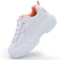 Женские бело-розовые кроссовки FILA Disruptor 2 - China