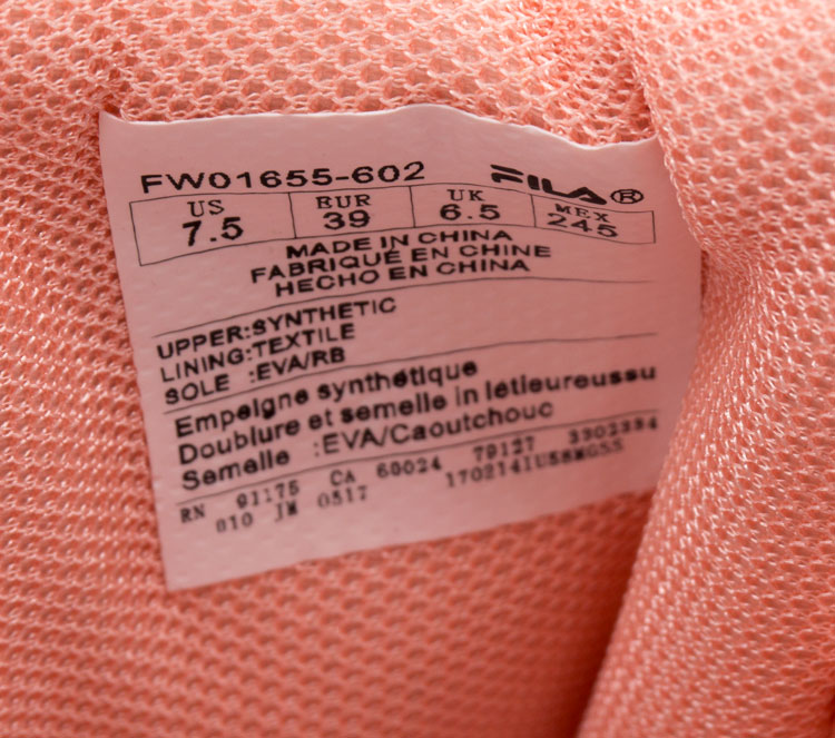 большое фото №6 Женские бело-розовые кроссовки FILA Disruptor 2 - China