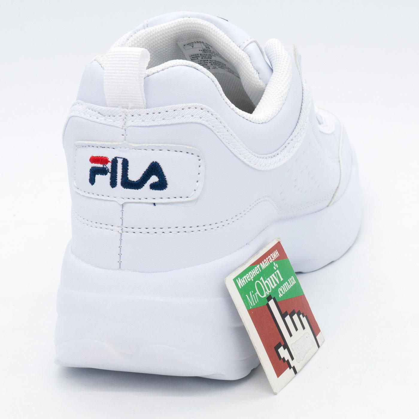 фото back Женские белые кроссовки FILA Disruptor 2 - China back
