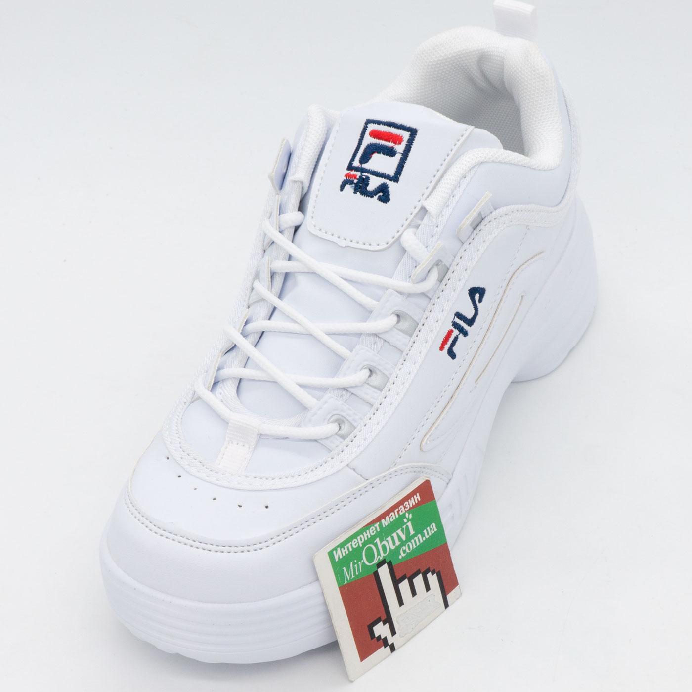 фото front Женские белые кроссовки FILA Disruptor 2 - China front