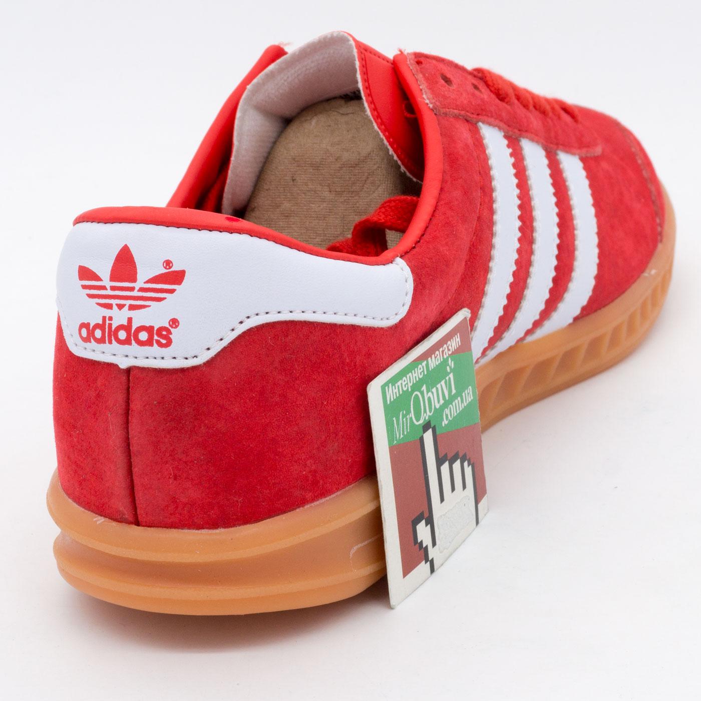 фото back Кроссовки Adidas Hamburg красные - Натуральная замша - Топ качество! back