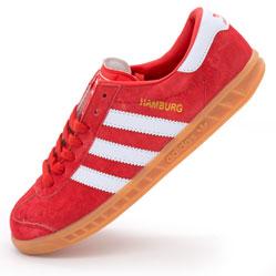 Кроссовки Adidas Hamburg красные - Натуральная замша - Топ качество!