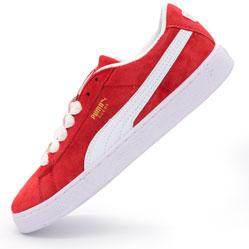 Кроссовки Puma Suede 50 красные, натуральная замша,  Топ качество!