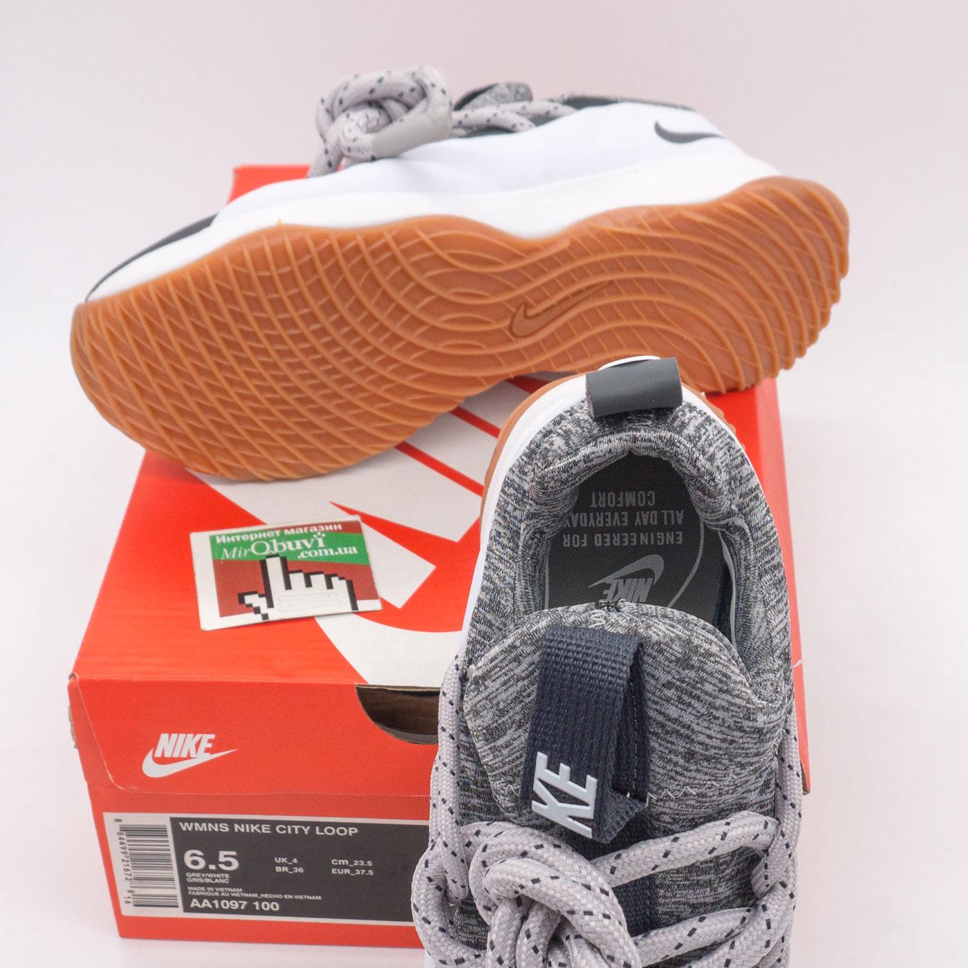 фото bottom Женские кроссовки Nike City Loop серо-белые. Топ качество! bottom