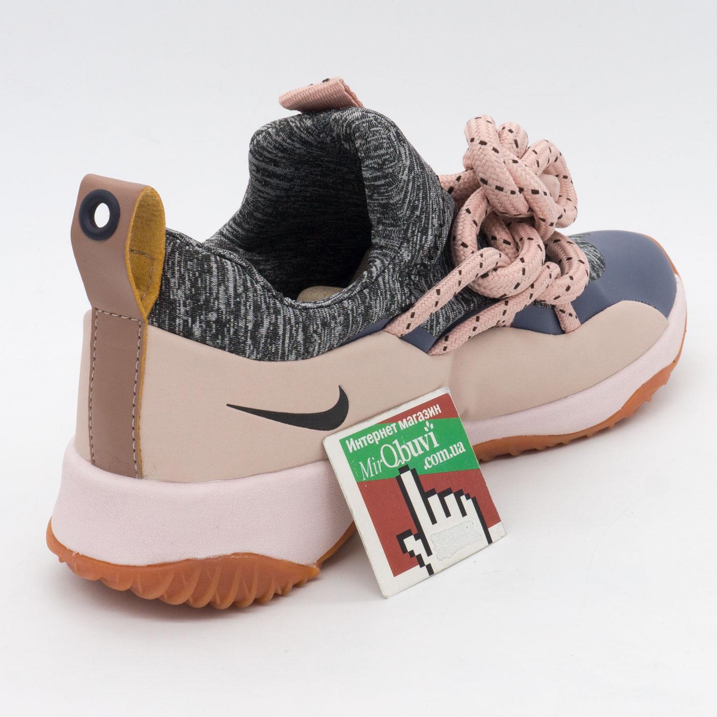 фото back Женские кроссовки Nike City Loop серо-розовые. Топ качество! back