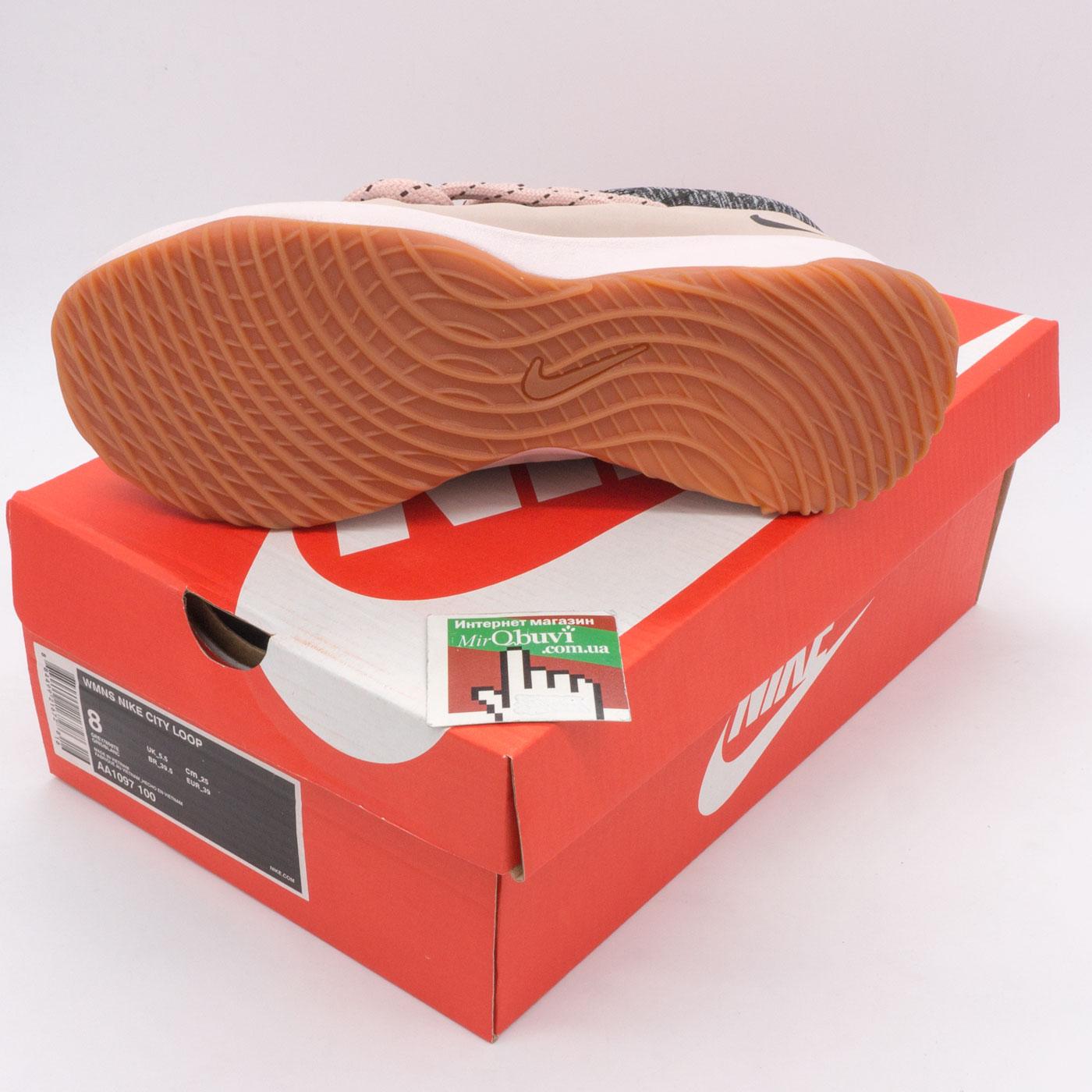 фото bottom Женские кроссовки Nike City Loop серо-розовые. Топ качество! bottom