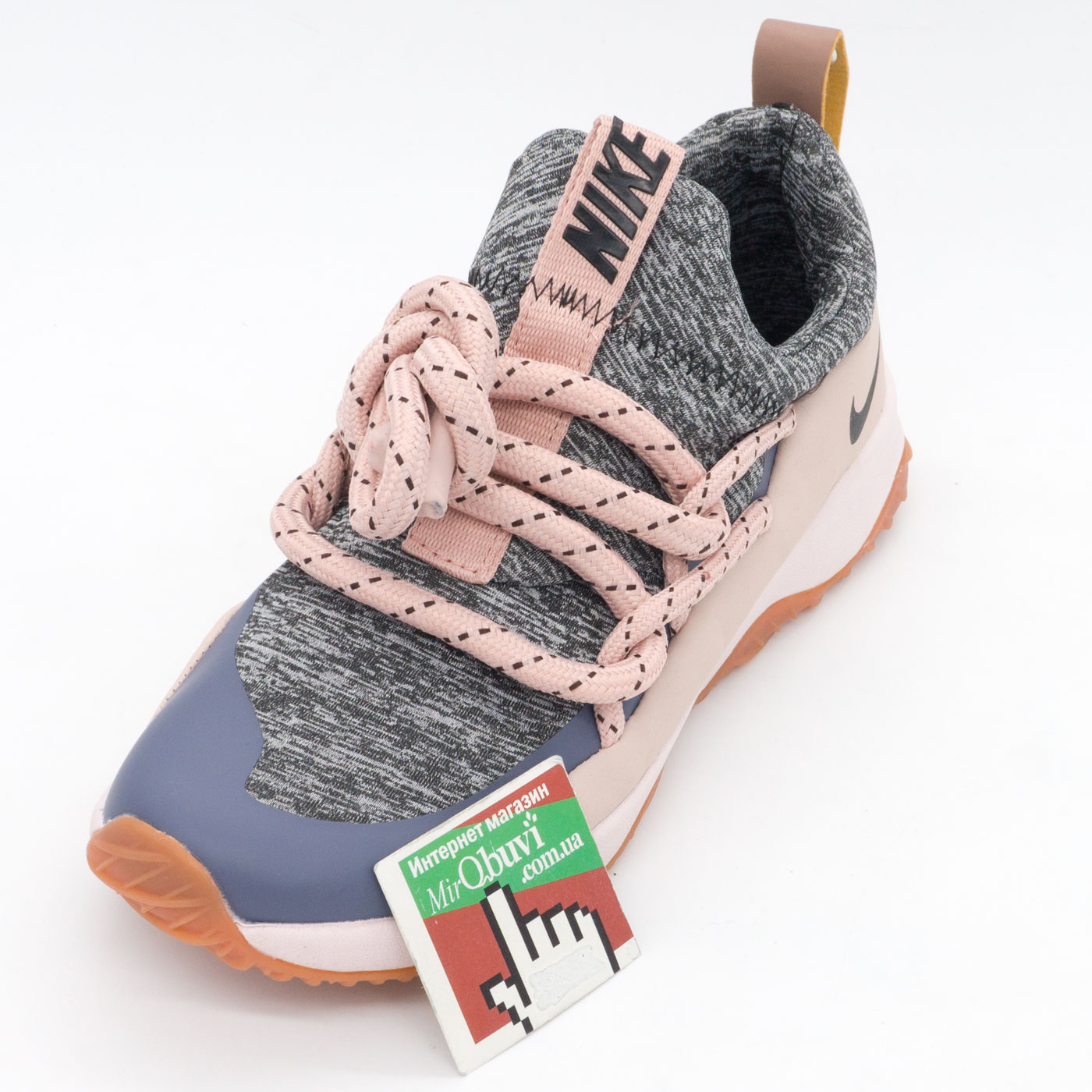 фото front Женские кроссовки Nike City Loop серо-розовые. Топ качество! front