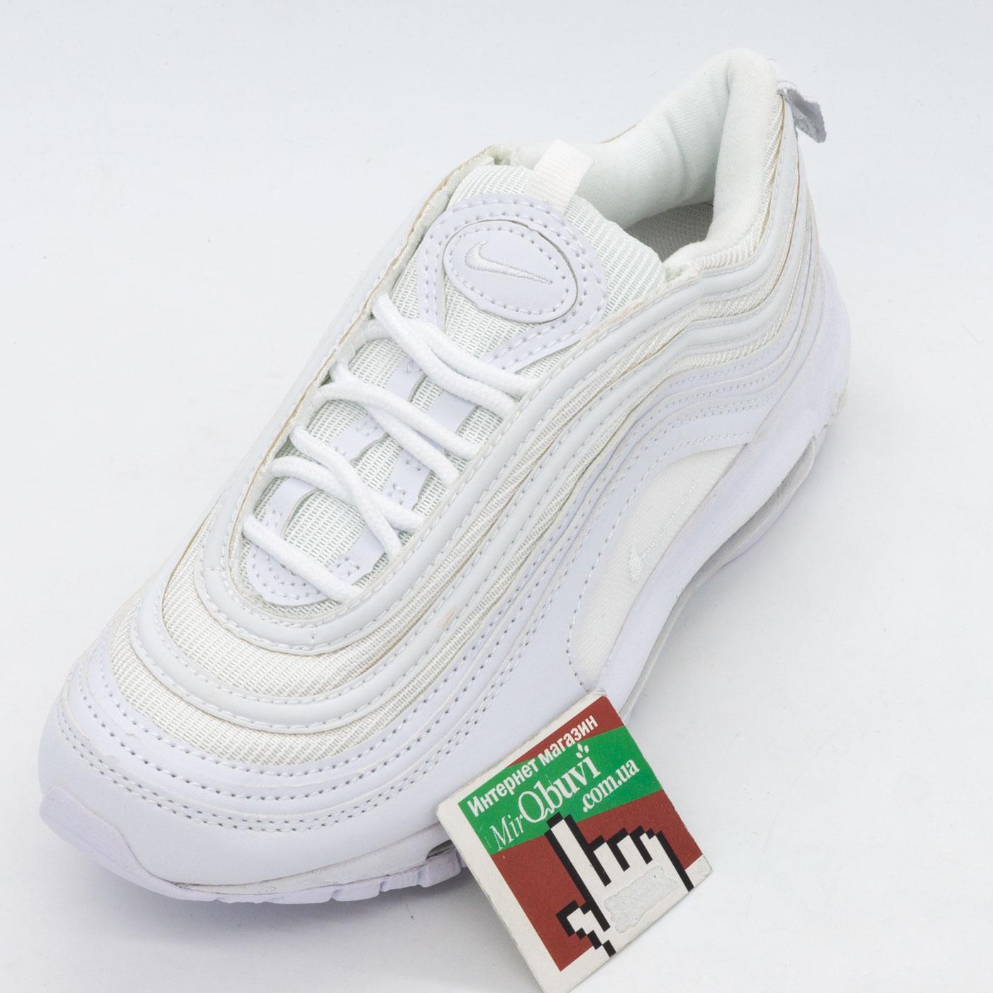 фото front Кроссовки Nike air max 97 белые. Топ качество! front