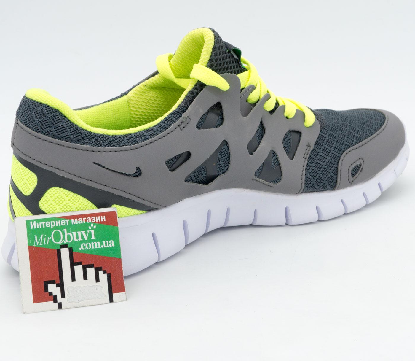 фото back Кроссовки для бега Nike Free Run 2 Найк Фри Ран, серо-зеленые back