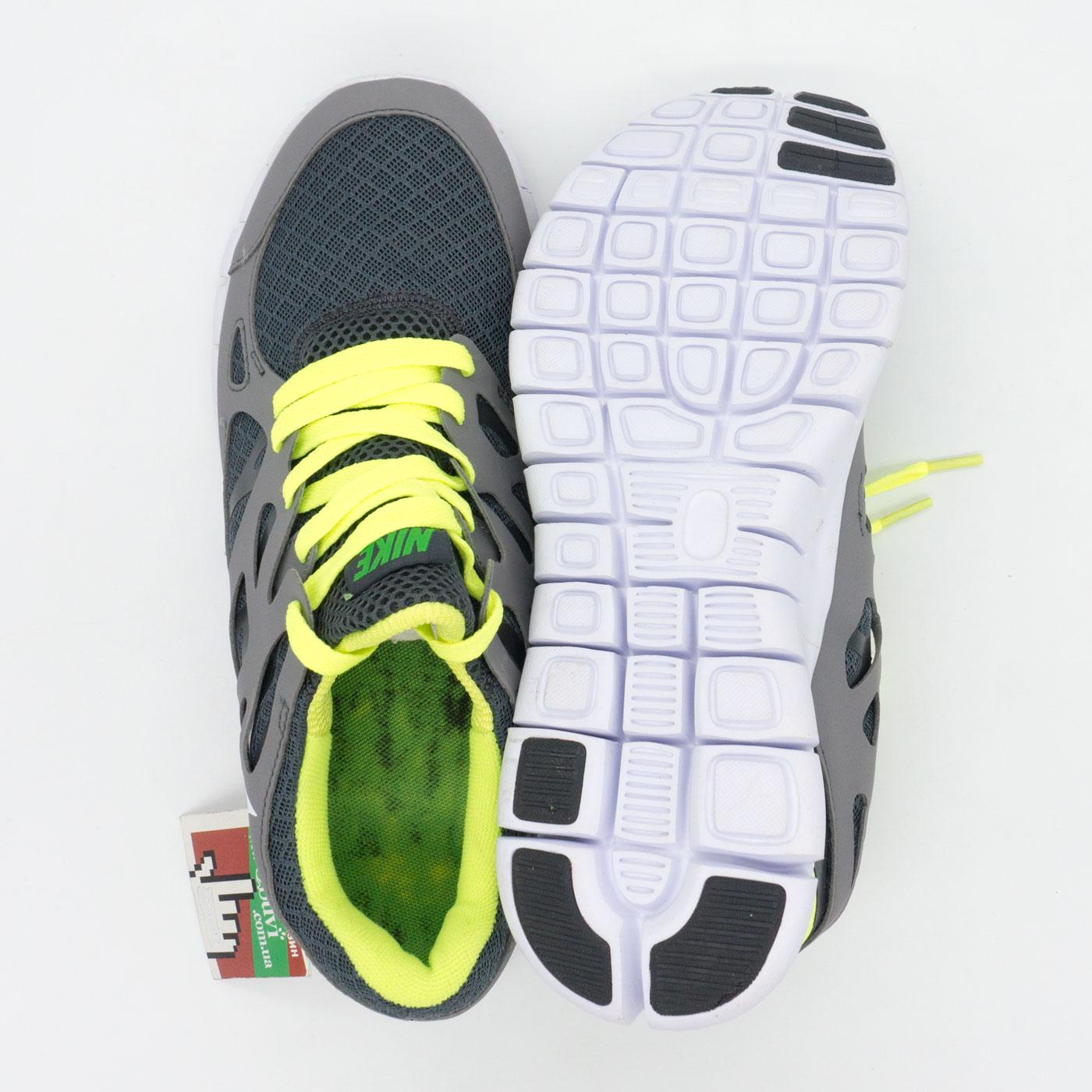 фото bottom Кроссовки для бега Nike Free Run 2 Найк Фри Ран, серо-зеленые bottom