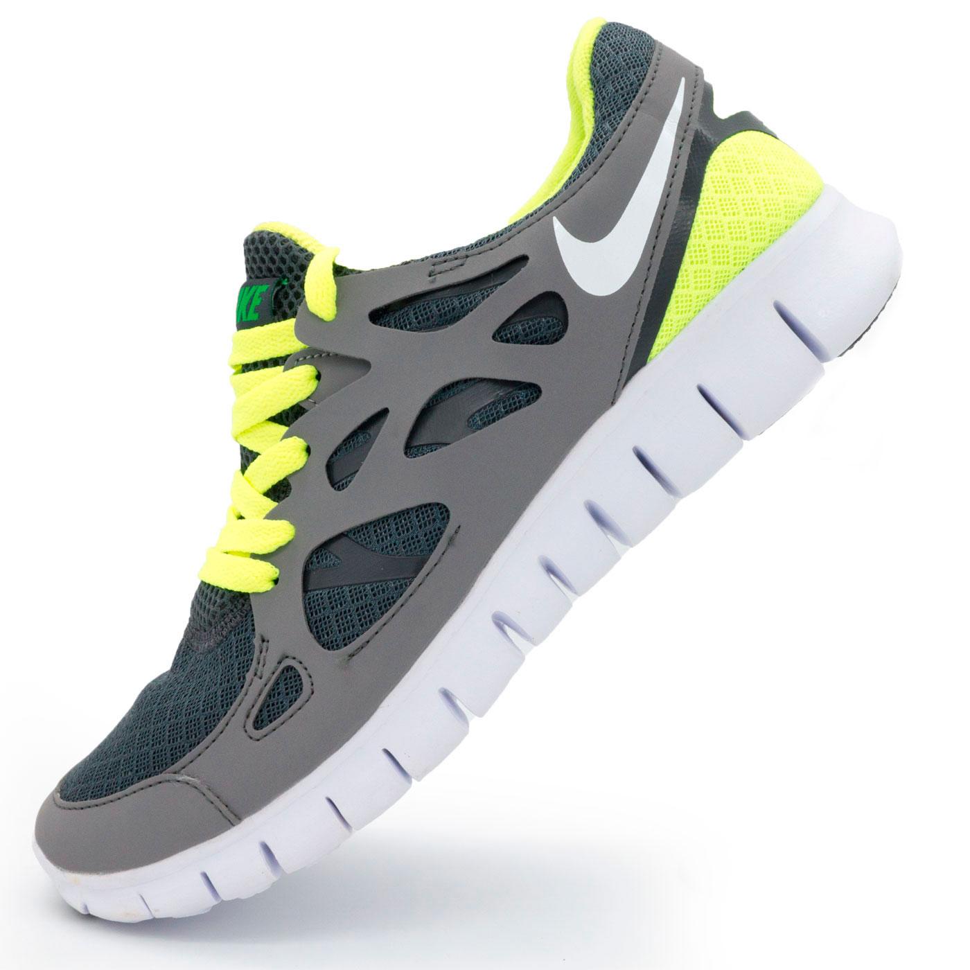 фото main Кроссовки для бега Nike Free Run 2 Найк Фри Ран, серо-зеленые main