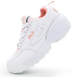 Женские бело-розовые кроссовки FILA Disruptor 2 Vietnam