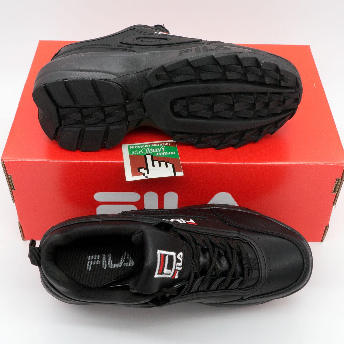 фото bottom Женские черные кроссовки FILA Disruptor 2 Vietnam bottom