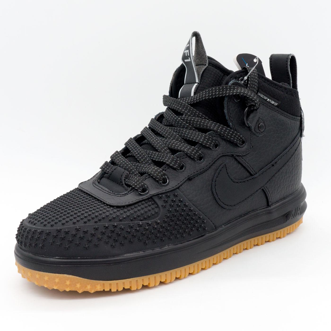фото back Высокие черные кроссовки Nike Lunar Force 1 Duckboot. Топ качество! back