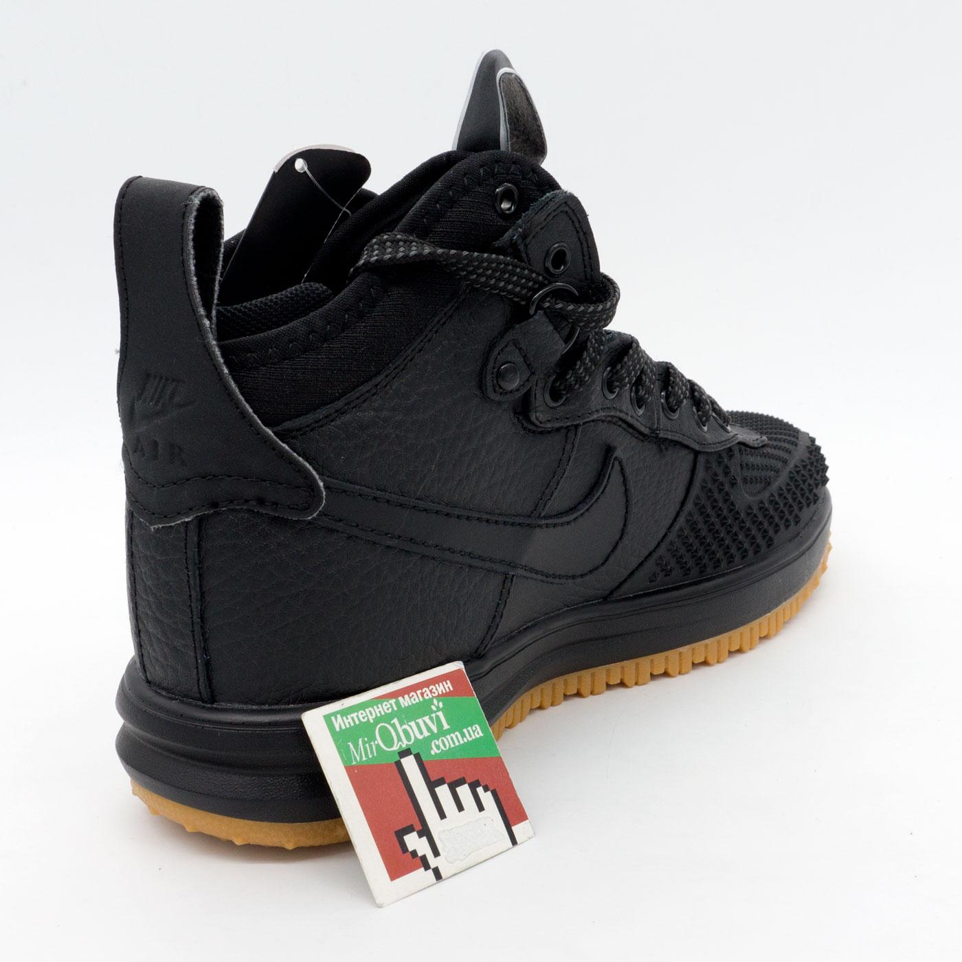 фото bottom Высокие черные кроссовки Nike Lunar Force 1 Duckboot. Топ качество! bottom